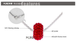 925 Silver Necklace With Full Strass Pendant (M1003) pictures & photos
