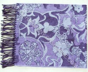 100% Wool Scarf with Flowers Jacquard X pictures & photos
