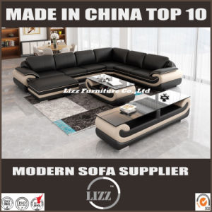 Newest Modern Furniture Leather L Shape Living Room Sofa Lz (1488-L) pictures & photos