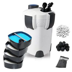 200 Gallon Aquarium Fish Tank External Canister Filter + Media Kits Self Priming