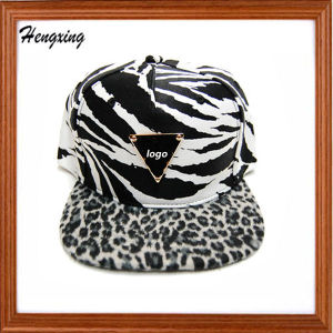 Zebra Stripe Snapback Hats and Caps 6 Panel Caps pictures & photos