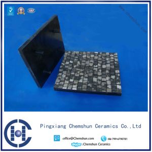 Abrasive Resistant High Alumina Rubber Backed Ceramic Tile pictures & photos