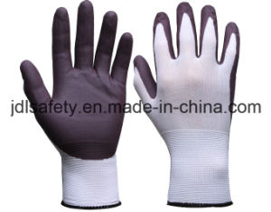 Nylon Work Glove with Water Based PU Palm Coating (PN8123) pictures & photos