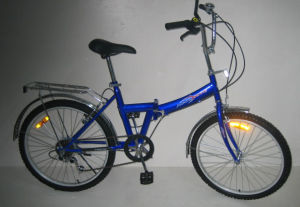 "24"" Steel Frame Folding Bicycle (FJ246) pictures & photos"