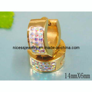Gold Crystal Round Earring (AE19)