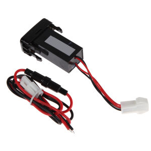 Car Dual USB Charger Audio Port Interface LED Light for Toyota Prado 120 Series pictures & photos
