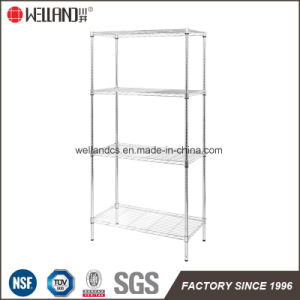 NSF Approval 4 Tiers Home Light Duty 120kg Chrome Steel Wire Rack pictures & photos