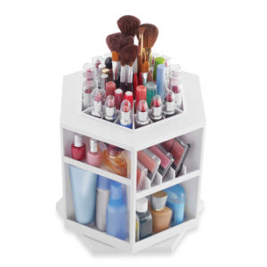 Larger Sizes Compartment Spinning Acrylic Lipstick Tower pictures & photos
