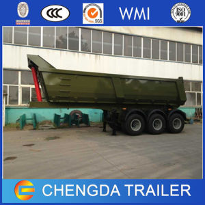 3 Axles Cargo Hydraulic Tipper Dump Semi Trailer for Sale pictures & photos
