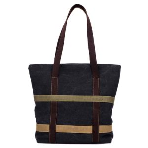 Fashion Ladies Daily Use Canvas Beach Handbag Women Tote Bag pictures & photos