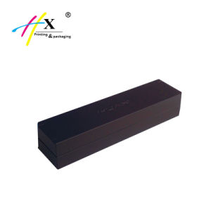 Engraved Logo Matte Black Long Watch Packing Box pictures & photos