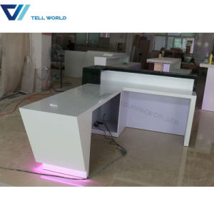 Hotel Arylic Lighted Commercial Restuarant Reception Desk pictures & photos