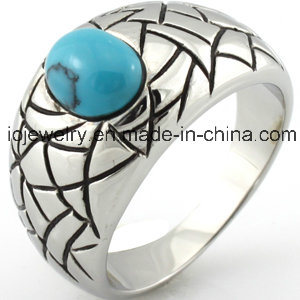 Cheap Wholesale 316 Stainless Steel Turquoise Ring pictures & photos
