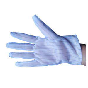 Cleanroom PVC Dotted Gloves Antistatic Polyester Gloves pictures & photos