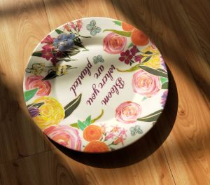 (BC-P1003) Good-Looking Eco Bamboo Fiber Plate with Printed pictures & photos