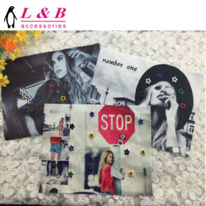 2018 Fashion Woman′s Head Design Sew on/Iron on Printing Patch for Clothes pictures & photos