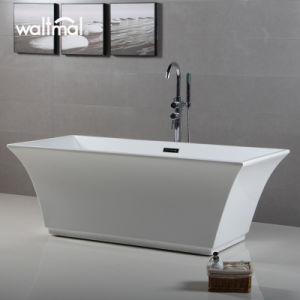Black Square Pedestal Freestanding Soaking Bathtub pictures & photos