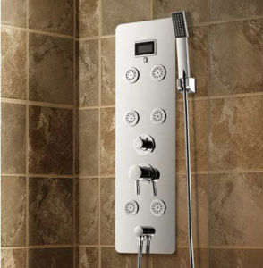 Stainless Steel Panel Shower Column with Temperature Display (K2218) pictures & photos