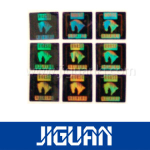 Custom Logo Design Pet Square Security Hologram Label pictures & photos