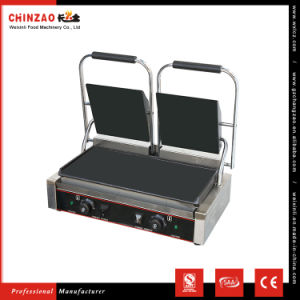Double Plate Flat Surface Panni Grill Chz-810-2b pictures & photos