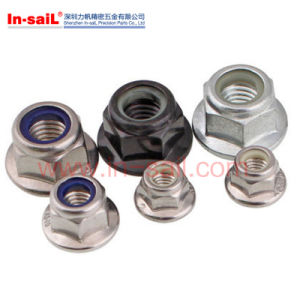Steel White Nylon Insert Hex Nut pictures & photos