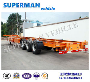 48FT Three Axle Skeleton Frame Semi Truck Trailer for Sales/Container pictures & photos