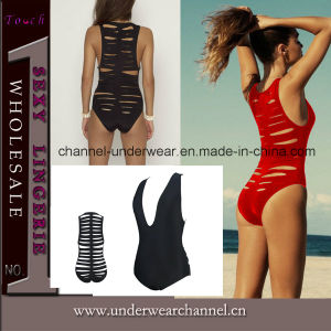 Newest Cut out V-Neck Beachwear Swimwear (TGT399) pictures & photos