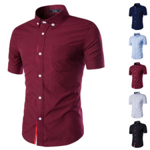 Manufacturer China Wholesale 100% Cotton Knit Dress Shirt (A436)