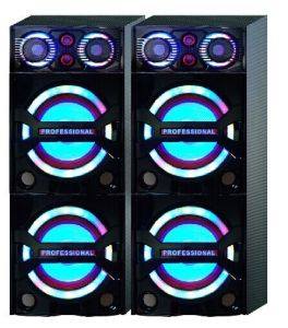 Dacing Light on Woofer and Tweeter Double 10 Inches New Speaker (USBFM-121BK)