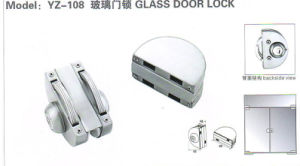 Yz-108 Stainless Steel, Stainless Iron, Zinc Alloy Glass Door Lock pictures & photos