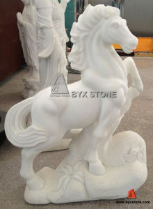 Chinese White Marble Garden Carving Horse Sculpture for Decoration pictures & photos