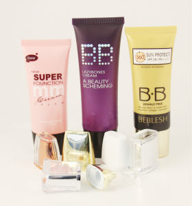 Bb Cream Flat Oval Cosmetic Tubes with Spherical Cover pictures & photos