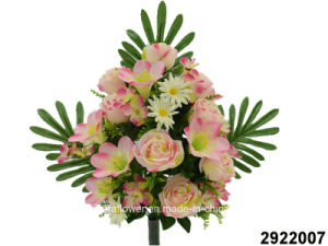 Artificial/Plastic/Silk Flower Rose/Lily/Hydrangea Mixed Lying Bush (2922007) pictures & photos