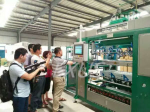 Automatic Lids Forming Machine Hot Drinks Plastic Cup Lids Vacuum Thermo Forming Machine pictures & photos