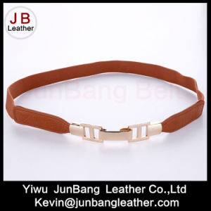 Fashion Ladies Elastic Waist PU Leather Woman Belt