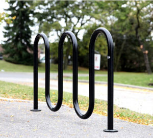 Hot-Dipped Powder Coated Wave Bike Vehicle Parking Rack pictures & photos