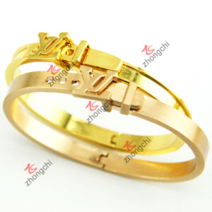 Fashion Gold Bangles Jewellry for Valentine′s Day Gift (B-16) pictures & photos