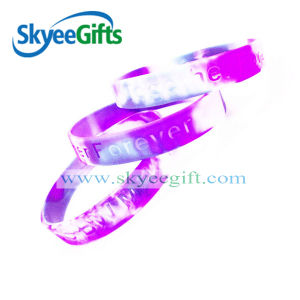 Silicone Wrist Band, Debossed Filled Logo pictures & photos