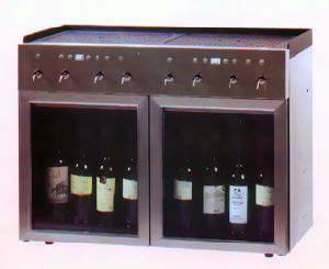 8 Bottles Red Wine Cooler/Wine Dispenserwine Chiller/Wine Cellar/Wine Cabinet (SC-8/B) pictures & photos