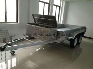Hot Dipped Galvanised Box Trailer with Aluminum Tool Box pictures & photos