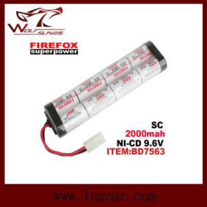 Firefox Sc2000mAh 9.6V Ni-MH Airsoft Aeg RC Mini Battery pictures & photos