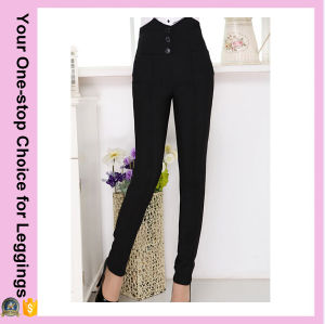 Fashion Designs Popular Elegant Women High Waist Pencil Pants pictures & photos