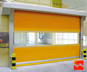 High Speed Fabric Roller Shutter Door with Imported PVC pictures & photos