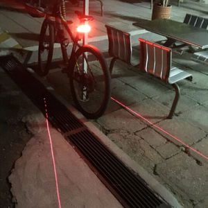Meilan X5 Smart Bicycle Rear Lamp Wireless Remote Turning Brake Control Signal USB Rechargeable Laser Bycicle Light pictures & photos