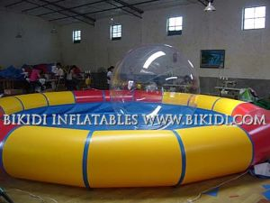 China Inflatable Pools Supplier, 2015 New Design Giant Inflatable Pool with Top Cover Roof for Different Water Games pictures & photos