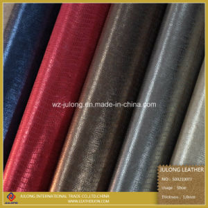 Metalic Embossed Shoe Leather (S092) pictures & photos