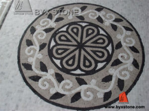 Natural White and Black Jade Marble Mosaic for Floor Decoration pictures & photos