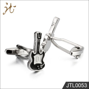 Nice High Quality Guitar Shape Cuff Buttons for Young Man pictures & photos