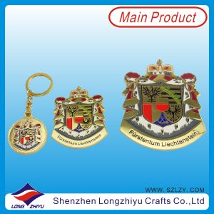 Custom Size Badge Gold Plated Badge for Promotion (lzy00072) pictures & photos