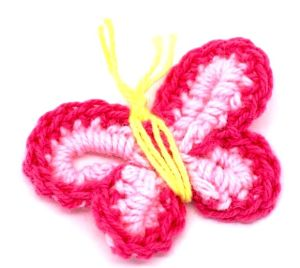 Fuchsia Hand Crochet Butterfly Appliques Scrapbooking Flowers pictures & photos